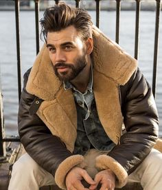 If you are a guy who is looking for the best beard styles for men, you should check out these 13 awesome and best beard styles for men, which are trending in Men's Leather Jacket, Shearling Jacket, Sheepskin Jacket Mens, Sheepskin Coat, Leather Jackets, Beard Styles For Men, Hair And Beard Styles, Short Beard Styles, Sexy Beard