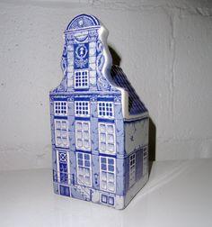 Dutch Delft Blue Hand Painted House.