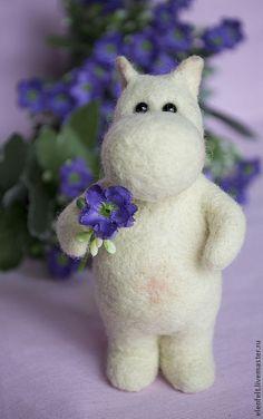 Moomin, Needle Felted Animals, Felt Animals, Wet Felting, Needle Felting, Felt Gifts, Felt Toys, Felt Art, Hobbies And Crafts