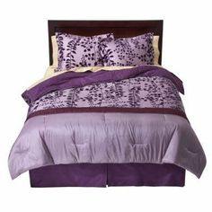 "100% Cotton Flocked Comforter Set, Full/Queen size - Purple by Modern Home. $64.51. 100% Cotton. 100% Cotton. 4 Piece Set Includes: Comforter / Bed skirt / 2 Pillow Shams. Purple. Fits Full & Queen. Size is 79"" by 86"". Bed Topper Features: Jump and Tack Quilting. Bedskirt Features: 15"" Drop. Number of Pieces: 4 . Includes: Comforter, 2 Shams included in Full. Fiber Content: 100 % Cotton. Polyester. Weave Type: Plain. Fabric Treatment: Flocked. Care and Cleaning: Dry Clean"