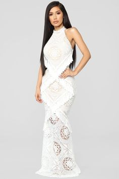942505a2a6d All Tassle No Hassle Lace Maxi Dress - Ivory