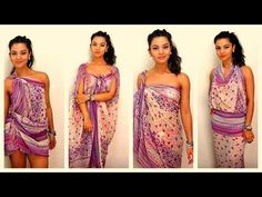 ▶ How to tie and style your sarong / pareo in 11 different ways - dianasaid.com - YouTube