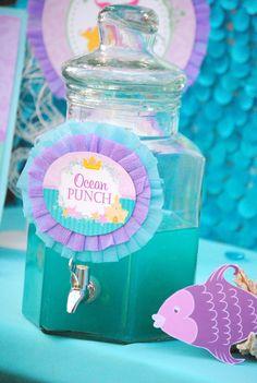 MERMAID Birthday DRINK Signs Princess Party by KROWNKREATIONS
