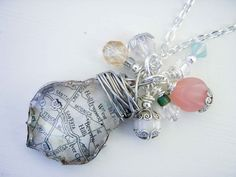 Chandelier Crystal with Map and Beads