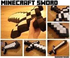 Plush Minecraft Sword, could sew up other pixels to create nice pillows or something :D