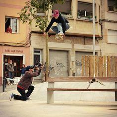 Skateboarding in Barcelona