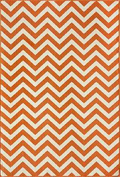 Orange Chevron Baja Rug, Rosenbury Rooms