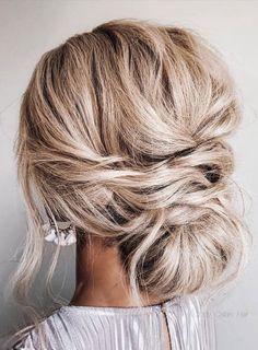 Bridal Hair Updo, Bridal Hair And Makeup, Wedding Hair And Makeup, Blonde Bridal Hair, Updos For Wedding, Wedding Updo With Braid, Wedding Hair Styles, Low Bun Wedding Hair, Wedding Dresses