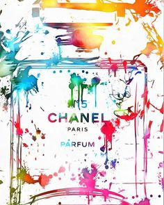 Chanel Number Five Paint Poster featuring the painting Chanel Number Five Paint Splatter by Dan Sproul Chanel Wallpapers, Parfum Chanel, Splatter Art, Illustrations, Art For Sale, Flower Art, Fine Art America, Pop Art, Images