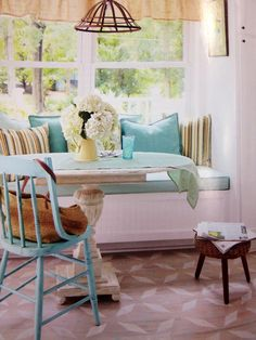 kitchen nook love the colors
