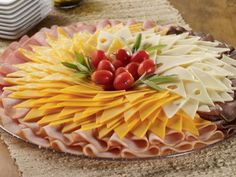 Beautiful slicing on a festive table: photo-ideas for making scraps for every taste Cucumber Recipes, Salad Recipes, Meat And Cheese Tray, Recipes From Heaven, Prosciutto, Finger Foods, Waffles, Appetizers, Snacks
