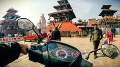 Scooter ride through Kathmandu Durbar Square - before the 2015 Nepal earthquake