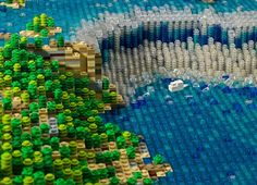Amazing Lego Niagara Falls, by Lego Wonders / Warren Elsmore. These LEGO Monuments Are Possibly Cooler Than The Real Thing