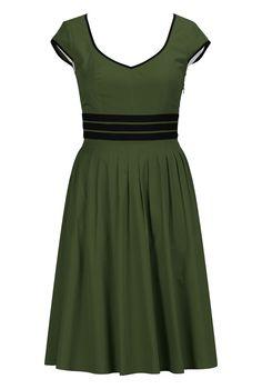 eShakti Women's Contrast trim cotton poplin dress at Amazon Women's Clothing store: