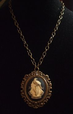Raven and tombstone cameo goth necklace by MidnightDesires on Etsy, $15.00