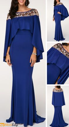 Boat Neck Printed Overlay Embellished Navy Maxi Dress. elegant, fashion, focal of the crowd, wedding or party.