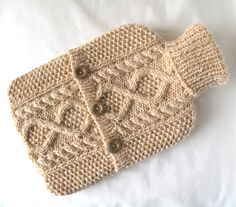 Peaches and cream hot water bottle sweater / cover