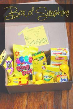 box of sunshine- to brighten somebody's day!