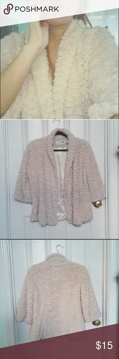 | Forever 21 | downy baby pink coat - Forever 21 downy baby pink coat - soft, cute and cuddly in every way - silky interior lining - Size M - 100% polyester  Like new but not NWT   * cover photo is of very similar jacket  thanks for visiting and happy poshing! Forever 21 Jackets & Coats
