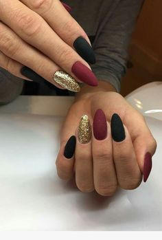 73 Most Stunning Dark Nails Inspirational Ideas ( Acrylic Nails, Matte Nails) ♥ - Diaror Diary - Page 4 ♥ 𝕴𝖋 𝖀 𝕷𝖎𝖐𝖊, 𝕱𝖔𝖑𝖑𝖔𝖜 𝖀𝖘!♥ ♥ ♥ ♥ ♥ ♥ ♥ ♥ ♥ ♥ ♥ ♥ ღ♥ Everythings about Stunning nails design you may love! ღ♥ s҉e҉x҉y҉ New Nail Designs, Acrylic Nail Designs, Pointed Nail Designs, Dark Nails, Matte Nails, Shellac Nails, Matte Nail Colors, Maroon Nails, Winter Nails