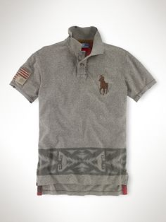 Ralph Lauren USA Patch Big Pony Polo