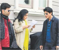 Shah Rukh Khan, Kajol and Karan Johar on the sets - My Name is Khan (2010)