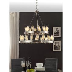 Griffin 30-light Nickel-finished Chandelier - Overstock Shopping - Great Deals on Chandeliers & Pendants