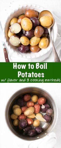 How to Boil Potatoes is a guide for tender and fluffy potatoes whether cooked on the stove top, microwave, or Instant Pot. The perfect wholesome side dish to weekly dinners.