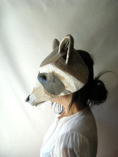 From @Scott Doorley Doorley Doorley Dyer on @Etsy Handmade Folk ART Raccoon Mask