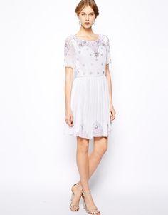 Frock and Frill Embellished Skater Dress