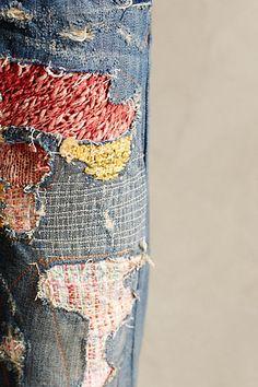 Pilcro Premium Hyphen Sweater-Patch Jeans - anthropologie.com