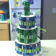 21st birthday beer and energy drink cake!