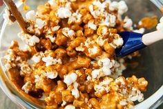 bourbon caramel popcorn recipe   use real butter
