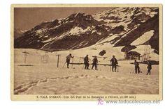Port de la Bonaigua.  Núm. 9. Vall d'Aran. Cim del Port de la Bonaigua a l'hivern (2100 m).  Silví Gordó, fotògraf. Pobla de Segur