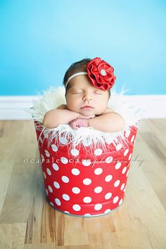 Red Satin Flower Headband  Newborn Photo by Pinkpaisleybowtique, $9.95