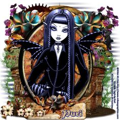 MI RINCÓN GÓTICO Fairy Pictures, Pretty Pictures, Gothic Fairy, Fantasy Art Women, Halloween Drawings, Collages, Fairy Art, Girl Cartoon, Cool Artwork