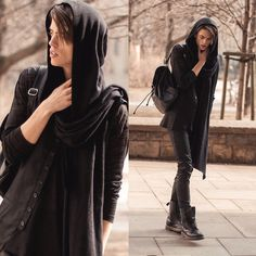House Of Widow Scarf, Weekday Long Sleeves, House Of Widow Rayon Twill Vest, H&M Backpack, Hugo Boss Pants