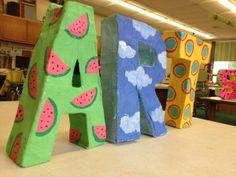 3-d letter sculptures