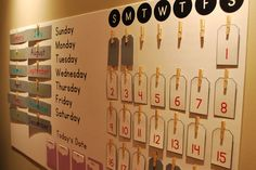 Calendar Ideas silhouette cameo projects