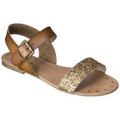 gold sparkle sandals are BACK // Target