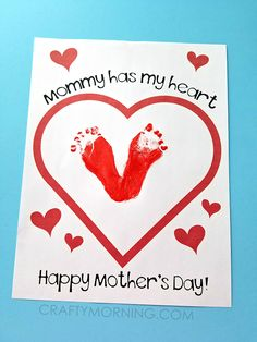 """""""Mommy Has My Heart"""" Mother's Day Printable - Crafty Morning"""