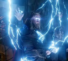 """In Avengers Endgame when Captain America asks Thor what Thanos had been doing after bombarding them Thor replies with """"absolutely nothing."""" This is because he had recently listened to War by Edwin Starr. Marvel Characters, Marvel Heroes, Marvel Avengers, Marvel Comics, Avengers Humor, Thor Wallpaper, Die Rächer, Chris Hemsworth Thor, Epic Beard"""