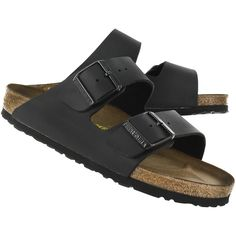 Birkenstock Women's ARIZONA black 2 strap sandals ❤ liked on Polyvore featuring shoes, sandals, birkenstock footwear, birkenstock sandals, birkenstock and birkenstock shoes