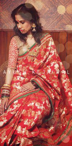 Benarsi bridal sari by Ayush Kejriwal For purchase enquires email me at ayushk@hotmail.co.uk or whats app me on 00447840384707. We ship WORLDWIDE. #sarees,#saris,#indianclothes,#womenwear, #anarkalis, #lengha, #ethnicwear, #fashion, #ayushkejriwal,#Bollywood, #vogue, #indiandesigners ,#handmade, #britishasianfashion, #instalove, #desibride, #bollywoodfashion, #aashniandco, #perniaspopupshop, #style ,#indianbeauty, #classy, #instafashion, #lakmefashionweek, #indiancouture, #londonshopping…