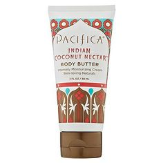 Pacifica Pacifica Indian Coconut Nectar Body Collection Body Butter 2.5 oz by Pacifica. $9.15. Portable and easy to use.. Now available in tubes in our best-selling fragrances, making them easy to take with you anywhere.. Our body butter helps fight signs of aging while adding deep moisture and protection.. Made with nature's best moisturizers - shea butter, almond oil and safflower oil - Pacifica's paraben-free Body Butter is a skin must-have.. Smell incredible with our...