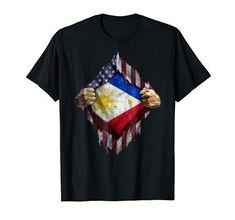 Filipino T-shirt Filipino American Tee shirt Philippines national day Tee shirt