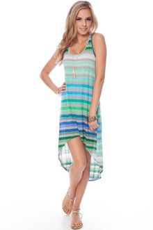 Chroma Tank Dress in Blue