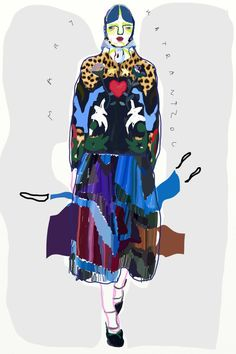 Mary Katrantzou F/W 2016 Curated.Works: From Runway To Sketch F/W 2016 London Part 1 by Anna Milada