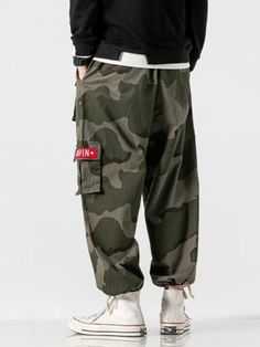 MOO Camo Cargo Pants MaterialElastic waist with drawstringSuitable for Islamic Clothing for MenWhen received the item will show Asian SizeEstimated Delivery from 10 to 21 days Drop Crotch Joggers, Fitted Joggers, Tapered Trousers, Cropped Trousers, Linen Trousers, Linen Shorts, Modest Outfits, Modest Fashion, Muslim Men