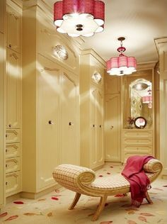 creative look to a master closet.
